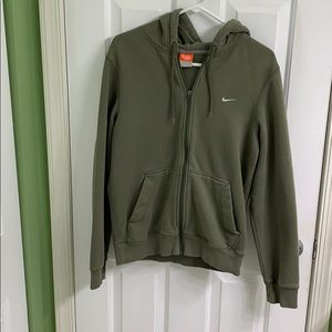 Army green Nike zip up jacket men's size small